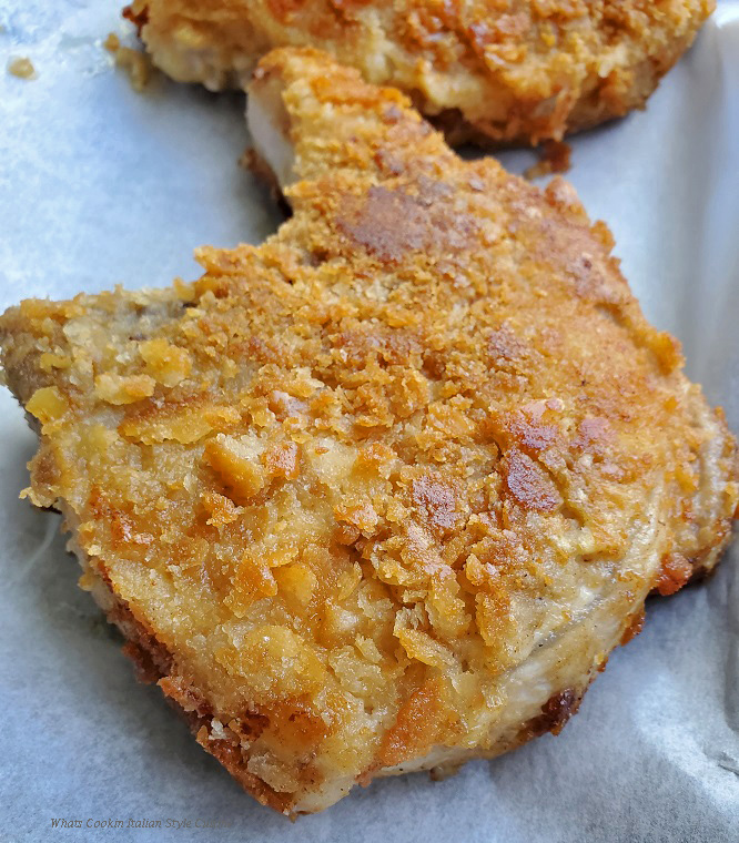 these are fried pork chops coated with crackers