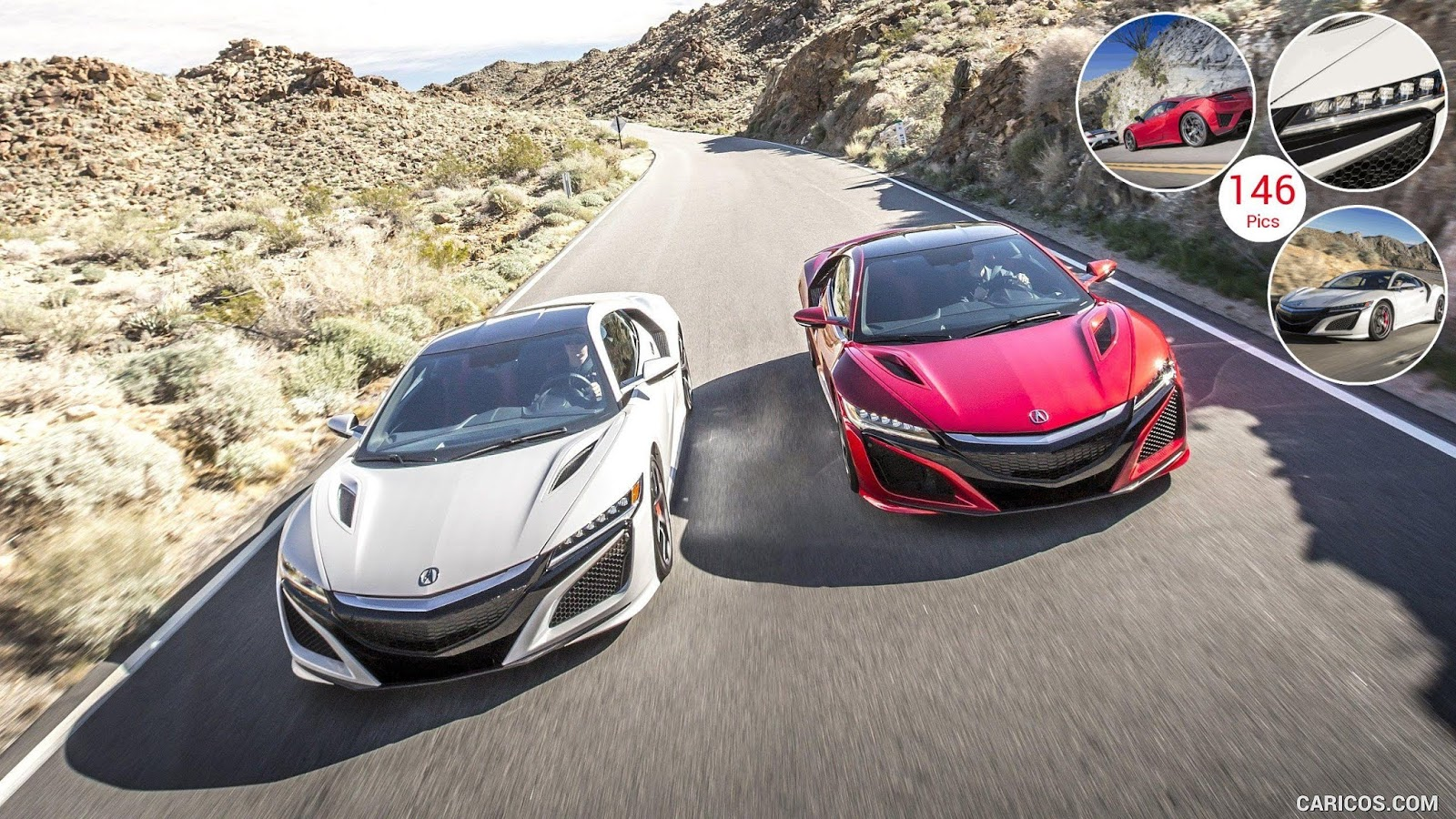 2017 Acura NSX Red and White  HD