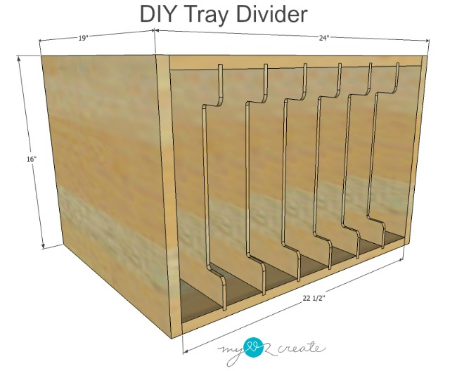 Free plans to make a tray divider for you kitchen