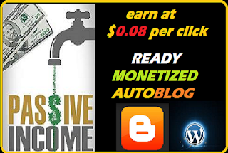 Ready monetized blog to earn you passive online income blogging - Earn at $0.07 per click