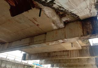Jembatan Pute Maros Retak,Pengendara jika Melintas Harus Berhati-Hati