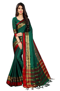 amazon  cotton saree below rupees 200 to 500-online shopping