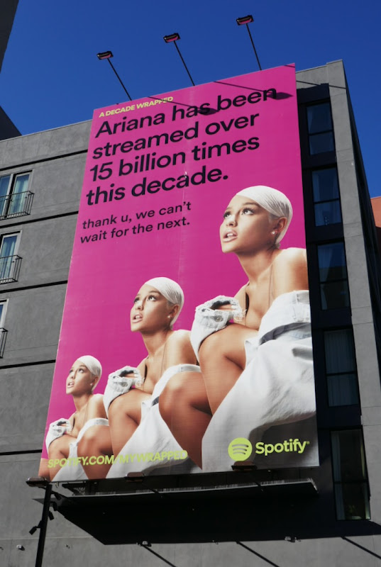 Ariana streamed 15 billion times Spotify billboard
