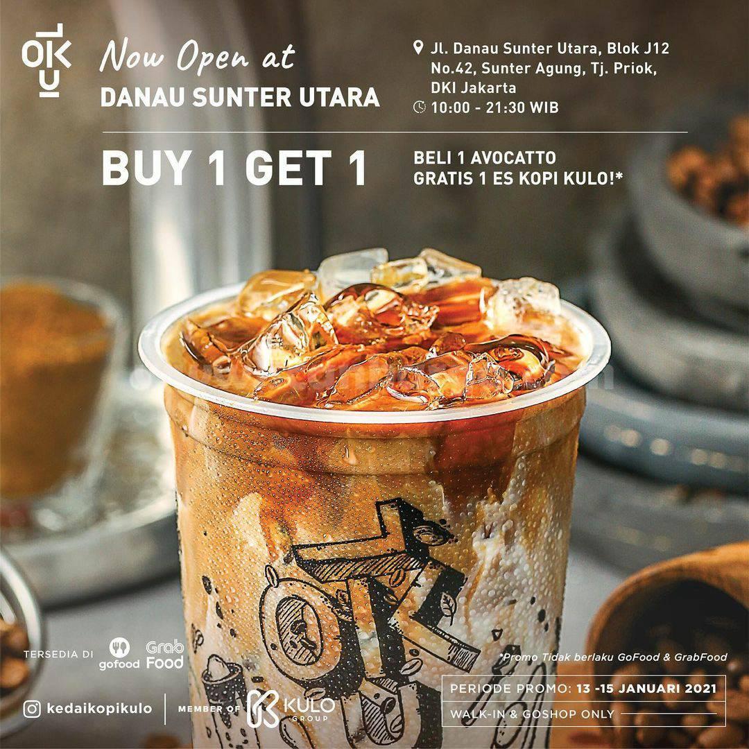 Kedai Kopi Kulo Danau Sunter Utara Opening Promo – Buy 1 Get 1 Free