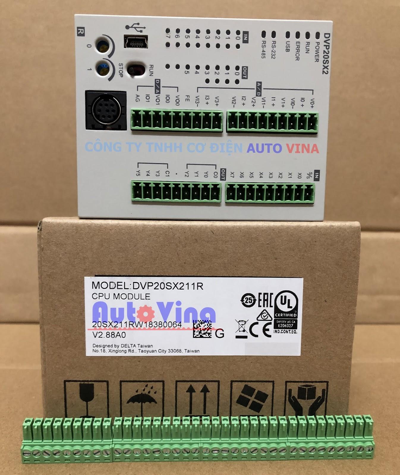 Đại lý bán PLC Delta DVP20SX211R tích hợp ngõ vào ra analog, hỗ trợ thời gian thực, hàng có sẵn