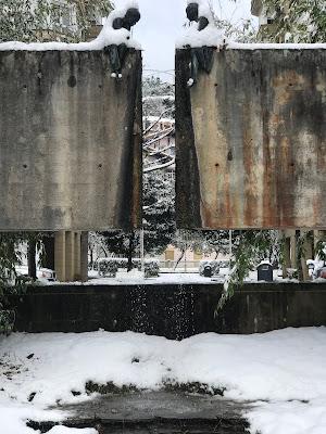 Nieve en La Concha de San Sebastian