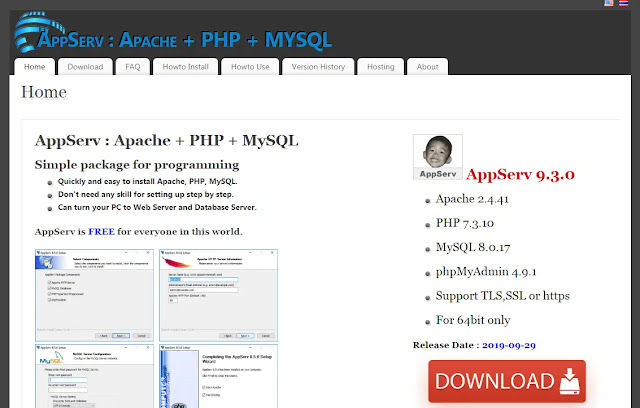 appserv web page