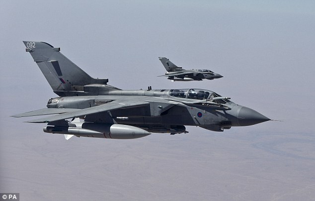 Image Attribute: UK's MoD Handout Photos of RAF Tornadoes