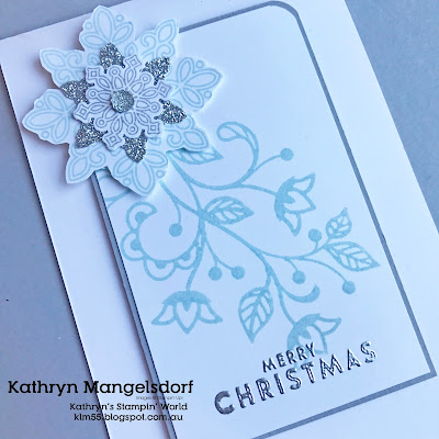 Stampin' Up! Flurry of Wishes, Christmas Cards, Heart of Christmas created by Kathryn Mangelsdorf