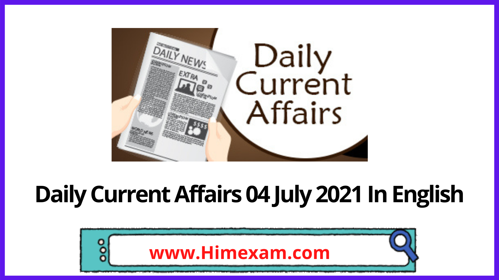 Daily Current Affairs 04 July 2021 In English