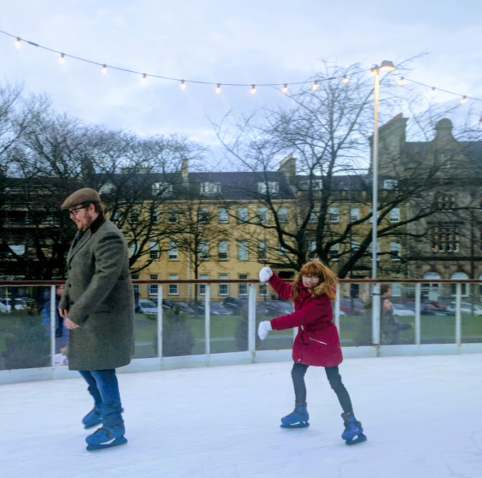Top Tips for Driving to Edinburgh Christmas Markets with Kids - Andrews Square Ice Skating