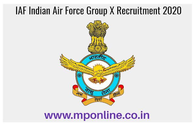 IAF Indian Air Force Recruitment 2020