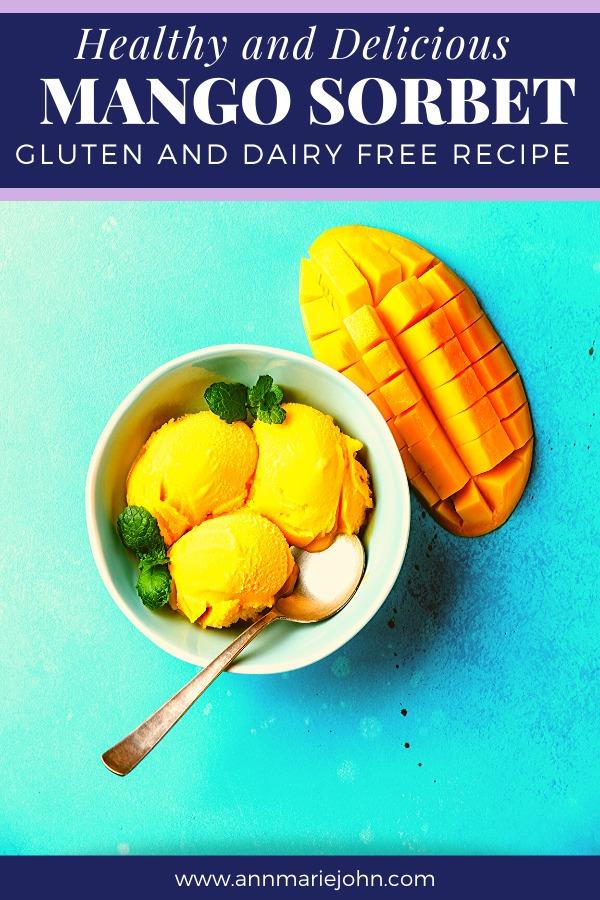 Healthy and Delicious Mango Sorbet