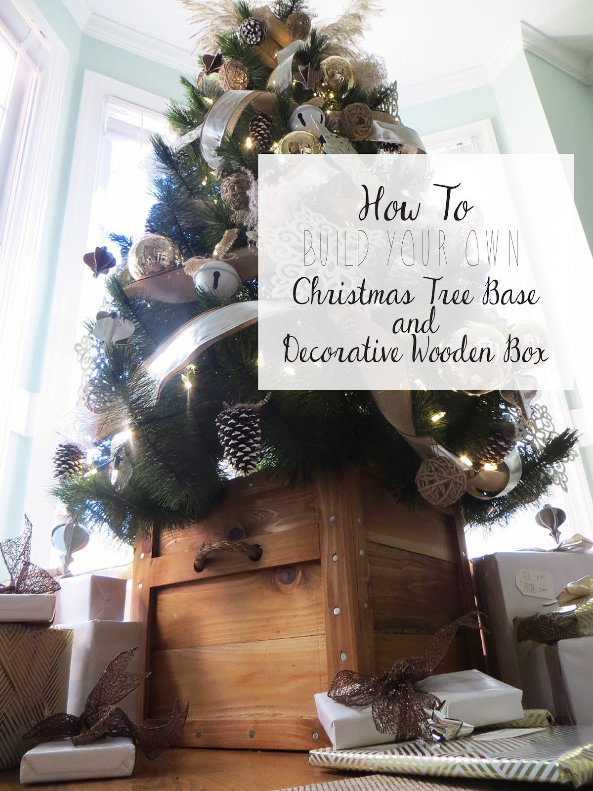 I liked the idea of having our Christmas tree standing in a basket, wooden  box or galvanized tub. Tree skirts have never been my favorite because  every year ...