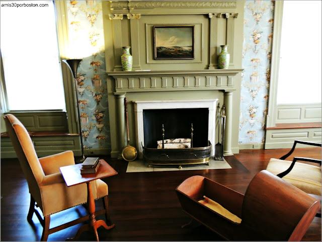 Dormitorio de Sally en la Mansión de John Brown en Providence, Rhode Island