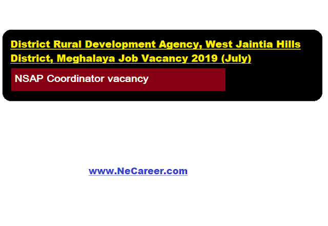 DRDA West Jaintia Hills District Recruitment 2019 (July)