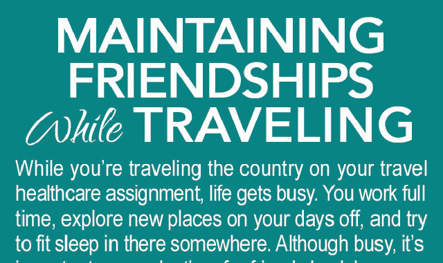 Maintaining Friendships While Traveling #infographic