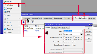 Pembuatan Security Profile dengan Winbox