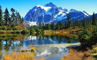 اجمل خلفية بحيرة في العالم