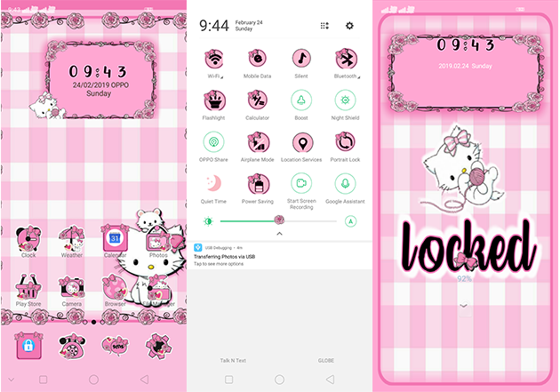 Oppo Theme: Oppo A3s Charmmy Kitty Theme
