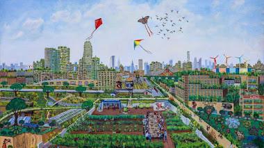 Una década de agricultura urbana en Nueva York en óleos de Elizabeth Downer Riker