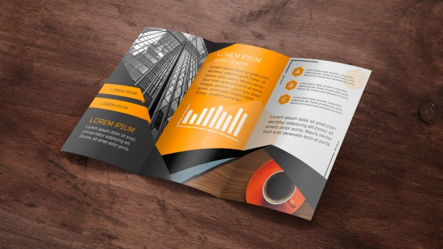 Download A4 Size Brochure Mockup Psd Free Download Yellow Images