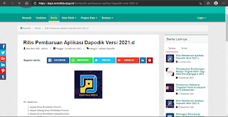 Web Resmi Dapodik 2021 D