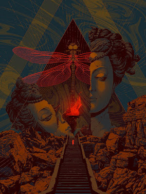"""Designer Con 2019 Exclusive """"Temple"""" Screen Print by Kevin Tong"""