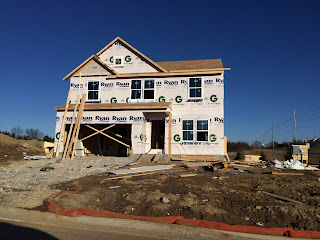 Ryan Homes Milan framing windows roof