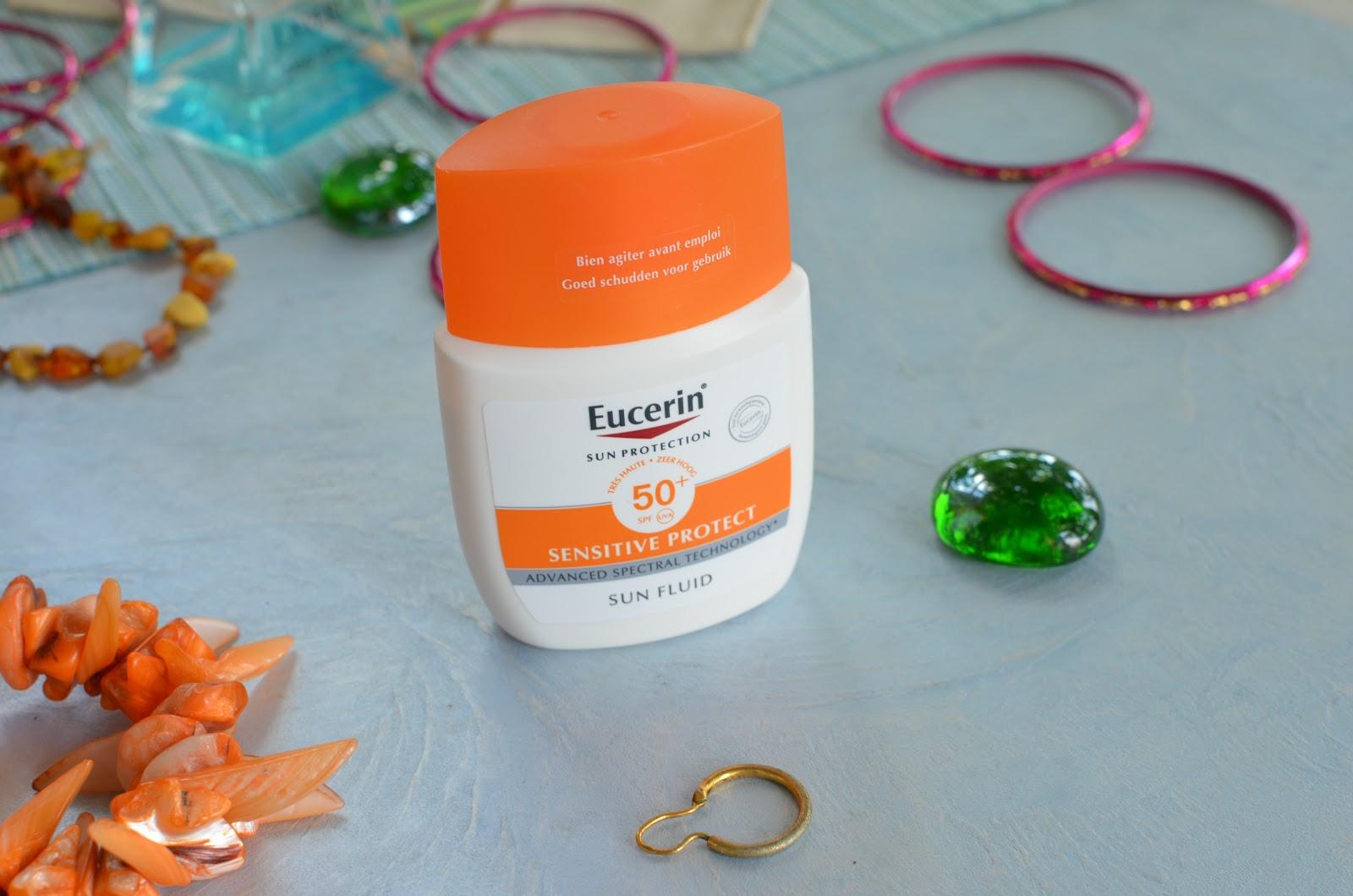 Eucerin Sun Fluid Mattifying SPF 50 Солнцезащитный матирующий флюид для лица с фактором УФ защиты SPF 50