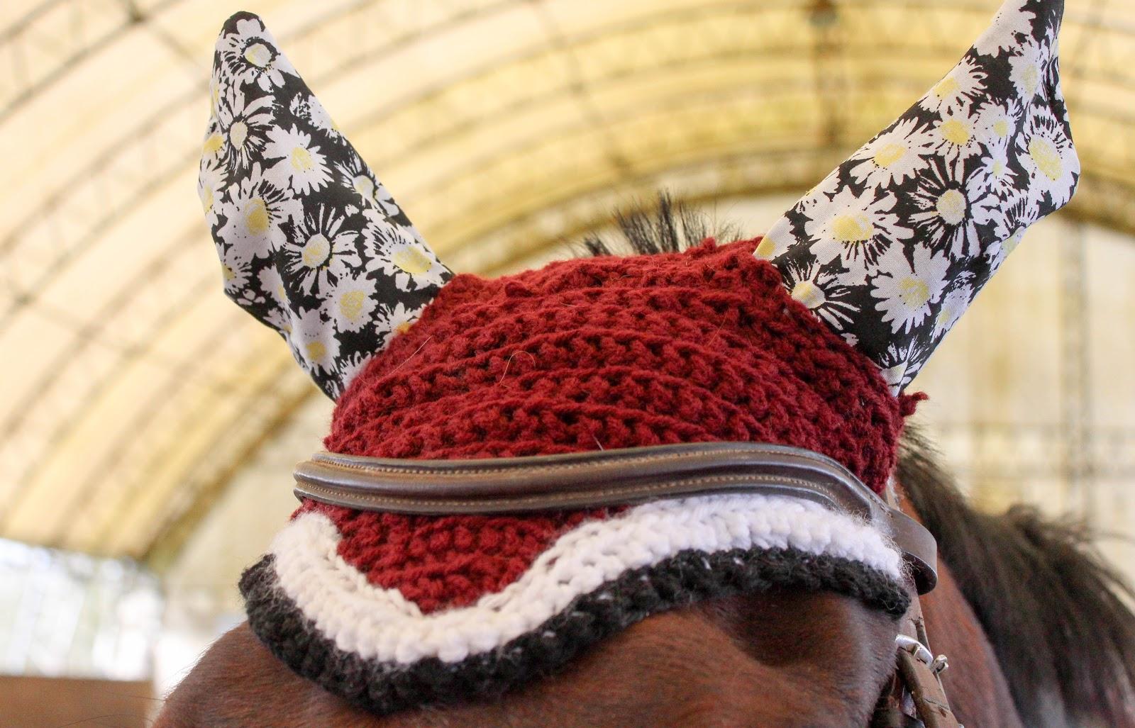Details about  /Handmade Crochet Horse Bonnet