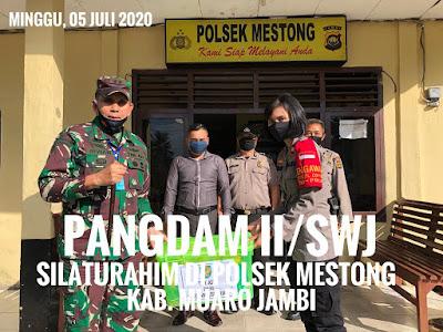 Pangdam II/Sriwijaya Silaturahmi di Mapolsek Mestong