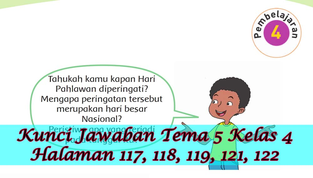 Kunci Jawaban Buku Siswa Tema 5 Kelas 4 Subtema 3 Halaman 117 118 119 121 122 Gawe Kami