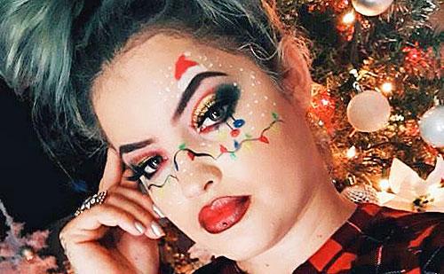 30 Maquillajes de Navidad que son puro espíritu navideño