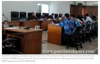 Sejumlah Guru Honorer Mengadu Ke DPRD
