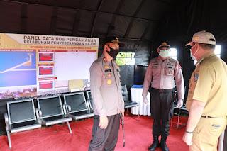 Kunjungan Ke Bone, Kapolda Cek Pos Pengamanan Ops Ketupat Covid 19 di Pelabuhan  Bajoe