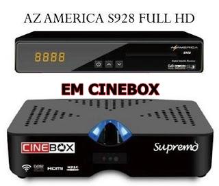 AZAMERICA S928 em CINEBOX SUPREMO Nova Atualização Modificada - 26/03/2018