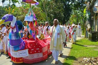 Procession during Majuli Festival
