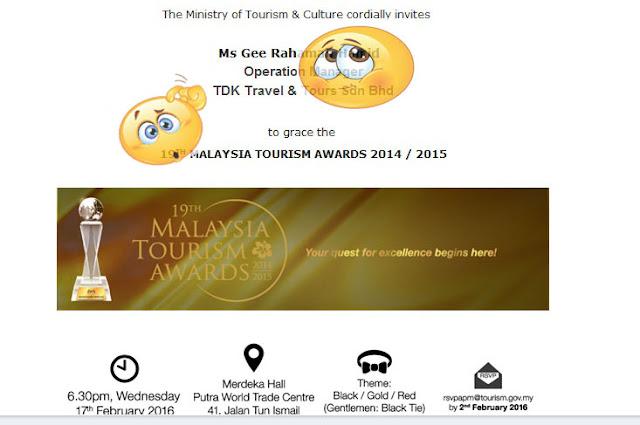 19TH MALAYSIA TOURISM AWARDS