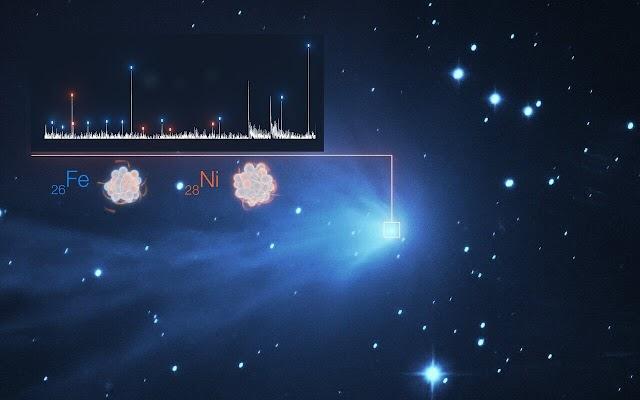 Οι κομήτες έχουν βαρέα μέταλλα στην ατμόσφαιρα τους