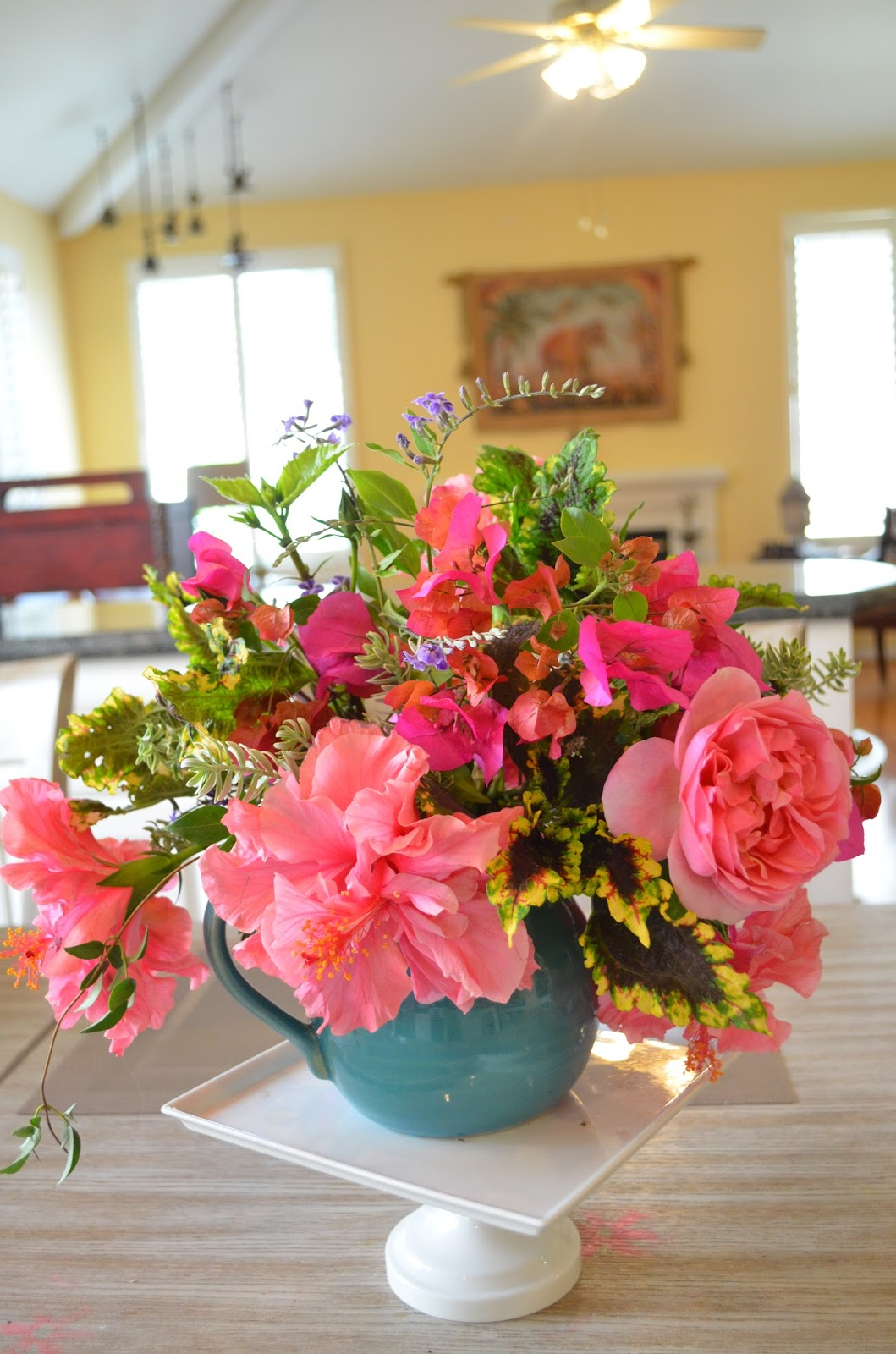 Entertaining From An Ethnic Indian Kitchen Flower Arranging With