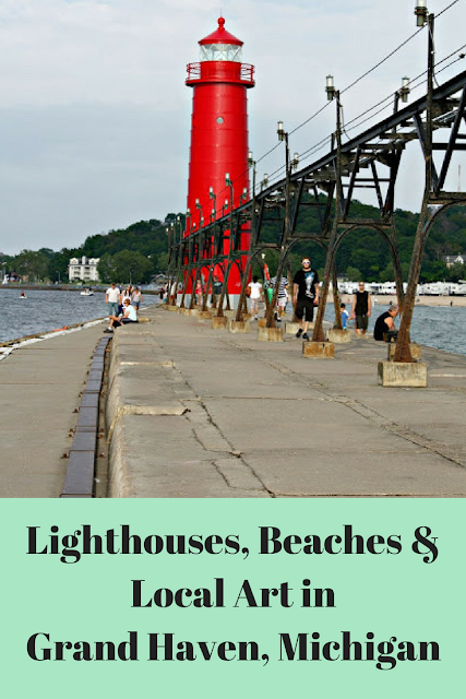 Lighthouses, beaches, local art, tea and more in Grand Haven, Michigan