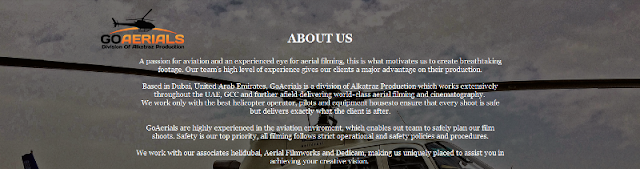leading provider of aerial filming and photography services