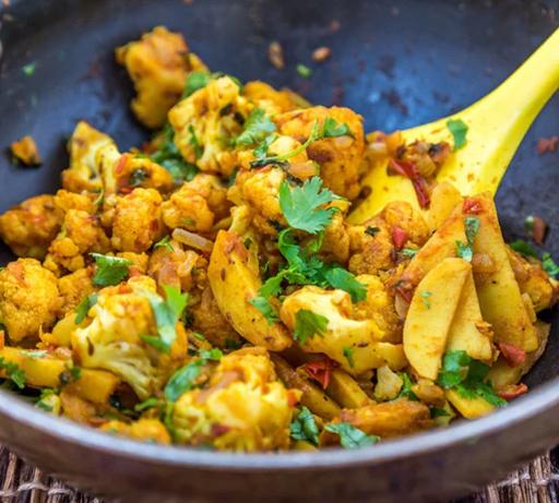 Aloo Gobi  #vegetarian #potato #cauliflower #easy #breakfast