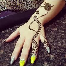 mehndi design fingers simple