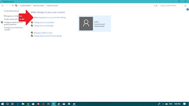 Create windows 10 user accounts password
