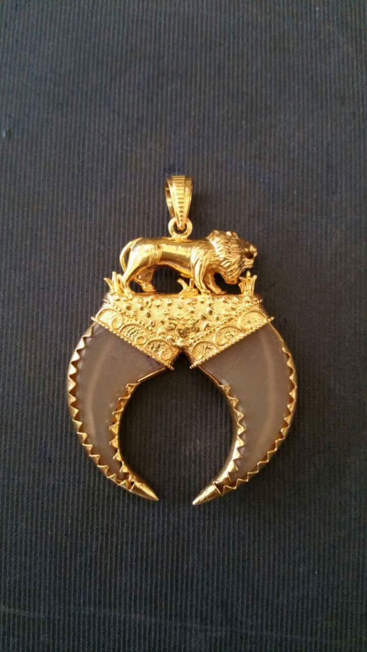 Mens Gold And Diamond Pendants