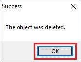Jika berhasil, maka akan muncul tab Succes. Sobat klik Ok untuk keluar.