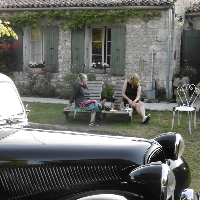 Enjoying an aperitif at a holiday cottage, Charente-Maritime, France. Photo by Susan Walter.