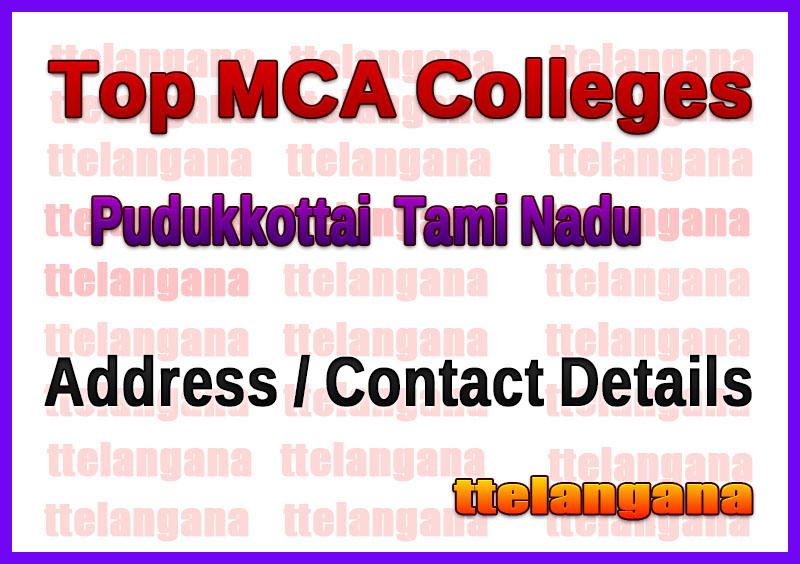 Top MCA Colleges in Pudukkottai  Tami Nadu